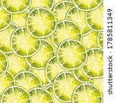 watercolor pattern with round... | Shutterstock . vector #1785811349