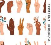 palms seamless pattern.... | Shutterstock .eps vector #1785816653