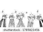 applause hand draw. vector... | Shutterstock .eps vector #1785821456