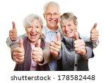 three happy senior people... | Shutterstock . vector #178582448