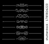 vector set of calligraphic...   Shutterstock .eps vector #1785826223