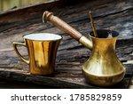 Vintage Metal Coffee Cup And...
