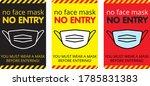 """no face mask no entry"" entry...   Shutterstock .eps vector #1785831383"