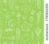 seamless pattern of outline... | Shutterstock .eps vector #1785834350
