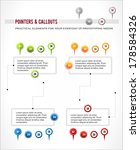 interface elements set  map...