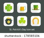 st. patrick's day icon set....