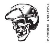 illustration of skull in...   Shutterstock .eps vector #1785854936