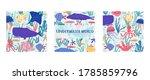 underwater world fish ... | Shutterstock .eps vector #1785859796