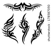 black abstract tribal and... | Shutterstock .eps vector #178587050