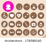 medical icons set vector... | Shutterstock .eps vector #178588160