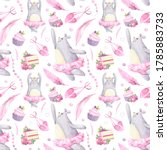 Seamless Pattern With Cute Bea...