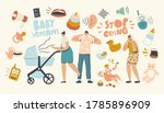 tired woman and man characters... | Shutterstock .eps vector #1785896909
