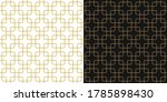 chinese pattern set in gold ... | Shutterstock .eps vector #1785898430