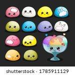 vector set of ice cream mochi... | Shutterstock .eps vector #1785911129