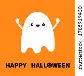 flying ghost spirit hands up.... | Shutterstock .eps vector #1785919430