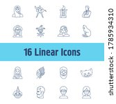 avatar icon set and arabian...