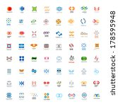 unusual icons set   isolated on ... | Shutterstock .eps vector #178595948