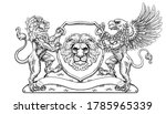 a crest coat of arms family...   Shutterstock . vector #1785965339