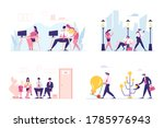 set of male and female business ... | Shutterstock .eps vector #1785976943