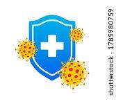 immune system icon logo. health ... | Shutterstock .eps vector #1785980759