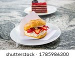 Choux Cream  Profiteroles With...