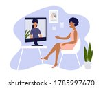 video call  networking or... | Shutterstock .eps vector #1785997670