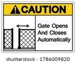 caution gate opens and closes... | Shutterstock .eps vector #1786009820
