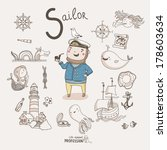cute vector alphabet profession.... | Shutterstock .eps vector #178603634