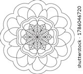 simple mandala shape for... | Shutterstock .eps vector #1786046720