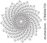 simple mandala shape for... | Shutterstock .eps vector #1786046723