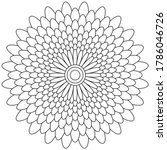 simple mandala shape for... | Shutterstock .eps vector #1786046726