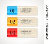 color numbered option banners... | Shutterstock .eps vector #178605344