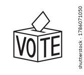 voting ballot box icon ...