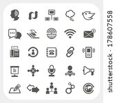 communication icons set | Shutterstock .eps vector #178607558