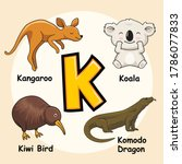 Cute Animals Alphabet Letter K...