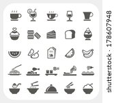 food and beverage icons set | Shutterstock .eps vector #178607948