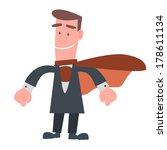 businessman in super hero... | Shutterstock .eps vector #178611134