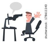 gun from the computer | Shutterstock .eps vector #178611140