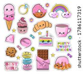 bright and colorful kawaii... | Shutterstock .eps vector #1786117319
