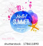 poster watercolor lettering...