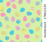 seamless easter pattern with... | Shutterstock .eps vector #178612133