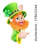 a leprechaun cartoon character... | Shutterstock .eps vector #178612166