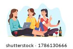 female friends spending time... | Shutterstock .eps vector #1786130666