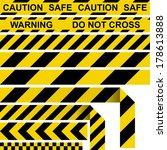 barrier tape. restrictive tape... | Shutterstock .eps vector #178613888