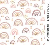 seamless pattern with delicate... | Shutterstock . vector #1786144730