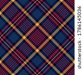 plaid pattern in blue  red ... | Shutterstock .eps vector #1786145036