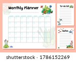 cute monthly planner with... | Shutterstock . vector #1786152269