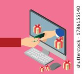 online gifts ordering and... | Shutterstock .eps vector #1786155140