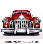 retro car. | Shutterstock .eps vector #178615688