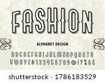 vintage typeface design ...   Shutterstock .eps vector #1786183529